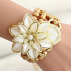 Pearl Flower wrapped Bracelet Watch