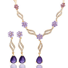 2016 Fashion Wedding Accessory 18K Gold Plated Crystal African Beads Jewelry Set With Earring(Necklace Earring)