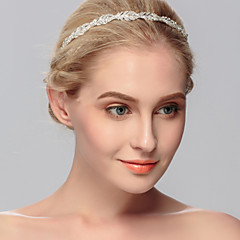 Women's Rhinestone Headpiece-Wedding / Special Occasion / Casual / Office & Career / Outdoor Headbands 1 Piece Silver Round