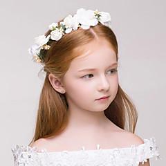 Flower Girl's Fabric / Plastic Headpiece - Wedding / Special Occasion / Outdoor Wreaths / Garland