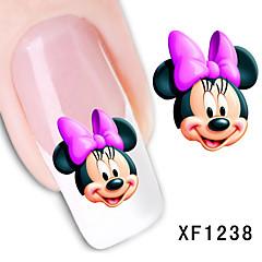 Tegneserie / Blomst / Smuk - Finger / Tå - 3D Negle Stickers - 15cm x 10cm x 5cm (5.91in x 3.94in x 1.97in) - 11PCS