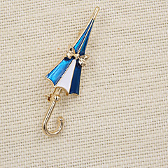 패션 여성 귀여운 에나멜 우산 브로치 (선물 가방 팩)