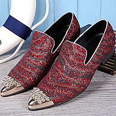 Mokasíny Bílá / Burgundská Pánské boty Kůže Svatba / Party