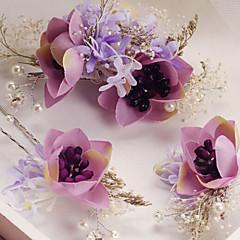 נשים שרף / פלסטיק כיסוי ראש-חתונה / אירוע מיוחד / קז'ואל / חוץ סיכת שיער 3 חלקים