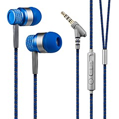 スマートフォン用マイク付きイヤーヘッドフォン低音のヘッドセットでkanen 3.5ミリメートルハンズフリーステレオ