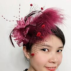 여성 깃털 Net 투구-웨딩 특별한날 파시네이터 1개