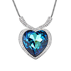 Women's Couple's Pendant Necklaces Crystal Cubic Zirconia Alloy Fashion Adorable Blue Jewelry Wedding Party Daily Casual 1pc