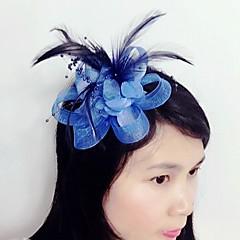 Γυναικείο Φτερό Τούλι Δίχτυ Headpiece-Γάμος Ειδική Περίσταση Διακοσμητικά Κεφαλής 1 Τεμάχιο