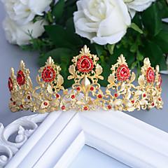 Baroque Red/Golden Rhinestone/Titanium Tiaras Wedding/Party Headpiece