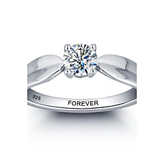 2016 Personalized Promise 925 Sterling Silver CZ Stone Wedding Party Ring For Women