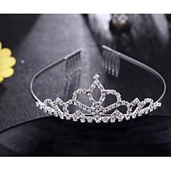 Fashion Crown Head Wreath Head Dress Rhinestone Flower Shape