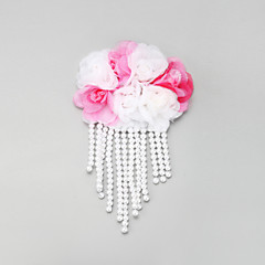 Women's / Flower Girl's Lace / Alloy / Imitation Pearl Headpiece-Wedding / Special Occasion Hair Clip 1 Piece White
