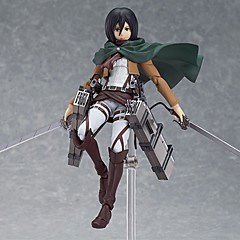 Attack on Titan Mikasa Ackermann PVC Anime Action Figurer Modell Leker Doll Toy