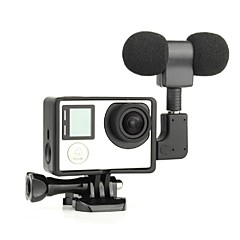 G-1042 Smooth Frame Microphone For Gopro Hero 3 Gopro Hero 3+ Gopro Hero 5 Gopro Hero 4 Gopro Hero 4 Black Film and Music Others Universal