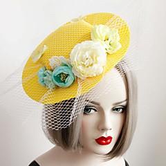 Mulheres Menina das Flores Renda Tecido Capacete-Casamento Ocasião Especial Chapéus 1 Peça