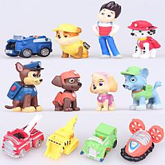 Bonecos & Pelúcias Modelo e Blocos de Construção Cachorros Carro Plástico Marrom Azul Amarelo Para Meninos Para Meninas
