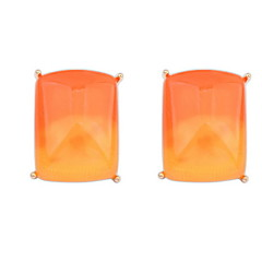 Trendy 2016 New Gradient Color Fashion Earrings Square Stud Earrings For Women Lady Weeding Party Jewelry