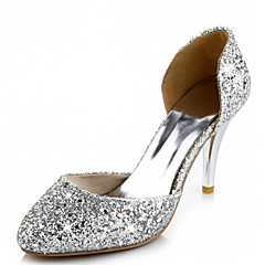 Women's Shoes Leatherette Stiletto Heel Heels Heels Wedding / Office & Career / Dress Red / Silver / Gold
