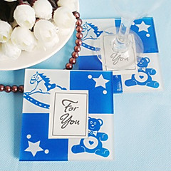 Baby blue Cute Baby Bear coaster (2pcs/box)