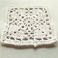 COASTER(Blanc,Bambou)Forme carrée