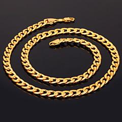 u7® mannen 18k dikke goud gevulde ketting van hoge kwaliteit vergulde figaro kettingen voor mannen 7mm 55cm 22inches