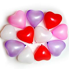 100pcs Kalp şeklinde balonlar Durumlar Düğün Doğum Günü Partisi Dekorasyon Ballon Parti dekoratif Malzemeleri