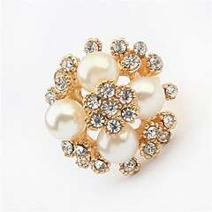 New Hot Elegant Women Rings Alloy Pearl Imitation Rings Women Party Charm Fashion Jewelry