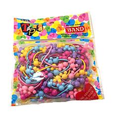50pcs/pack de Bonito faixas de cabelo de borracha para Crianças (cor aleatória)