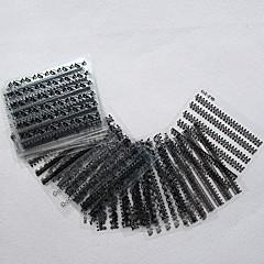 mode vrouwen zwart / wit kant nail art sticker sticker diy manicure make-up 30pcs / set