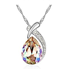 Thousands of colors  Women's Alloy Necklace Daily Crystal-1-755