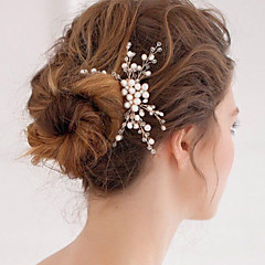 Women's Pearl / Crystal Headpiece-Wedding / Special Occasion Hair Combs 1 Piece