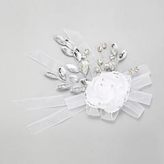 Dam / Blomflicka Strass / Kristall / Legering / Chiffong Headpiece-Bröllop / Speciellt Tillfälle Blommor 1 st.