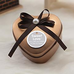 6 Stück / Set Geschenke Halter-Herzförmig Metall Geschenk Schachteln Nicht personalisiert