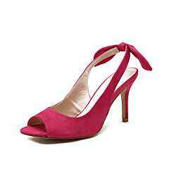 Women's Shoes  Stiletto Heel Heels / Peep Toe / Slingback Sandals Wedding / Outdoor / Dress Black / Fuchsia