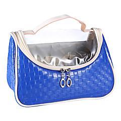 Ukládání make upu Kosmetická taška / Ukládání make upu PU Kvadrát 25x12x17.5cm Hnědá / Stříbrná / Orange / žlutá