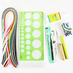 120pcs Quilling papír DIY kézműves dekoráció kit / 7db beállítva