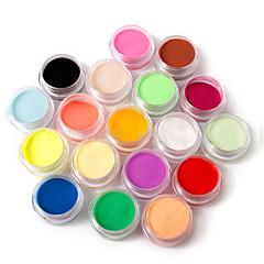 18 kleuren nail art beeldhouwwerk carving acryl poeder 110g