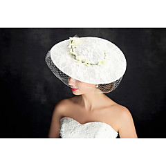 Women's Lace Tulle Flax Headpiece-Special Occasion Fascinators 1 Piece