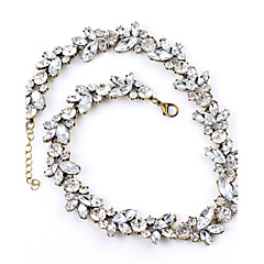 Women's Chain Necklaces Crystal Rhinestone Alloy Fashion White Jewelry Wedding Party Daily Casual 1pc
