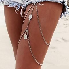 Mulheres Bijuteria de Corpo Corrente para Perna Cadeia corpo / Cadeia de barriga Sexy Europeu Moda Multi Camadas Bikini bijuterias Liga