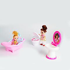 Puppe Geschenk-Set große dreiteilige Bad-Accessoires WC Bidet Simulation Spielzeug Kinder Haus ohne Baby spielen