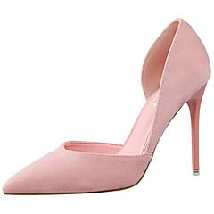 נעלי נשים-עקבים-סוויד-עקבים / שפיץ / נוחות-שחור / ורוד / אדום / אפור / חאקי-שמלה / מסיבה וערב-עקב סטילטו
