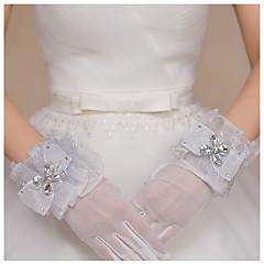 Wrist Length Fingertips Glove Tulle Bridal Gloves / Party/ Evening Gloves Spring / Summer /