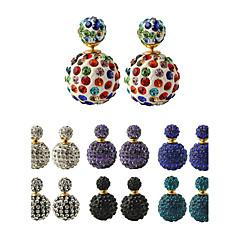 ボタンイヤリング 女性用 合金 イヤリング 人造真珠