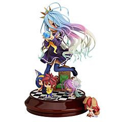 geen spel geen leven shiro 20cm anime action figures model speelgoed pop speelgoed (zonder 4 kleine cijfers)