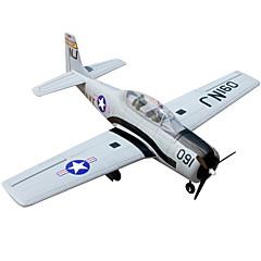 Propulseur Dynam T28 Trojan 5canaux 2.4G 1:8 Avion RC 50KM / H Gris Assemblement requis