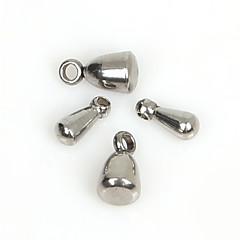 beadia 40db rozsdamentes vízcsepp extender lánc végén gyöngyök (vegyes 2 méretben)