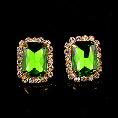 Stud Earrings Women's Brass Earring Crystal / Rhinestone