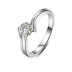 Ringen Modieus Bruiloft Sieraden Dames Statementringen 1 stuks,5 / 6 / 7 / 8 / 9 / 8½ / 9½ / 4 Zilver
