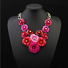 Hang Colorful Flowers Fashion Luxury Necklace
